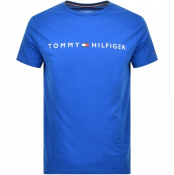 Tommy Hilfiger Lounge Flag Logo T Shirt Blue